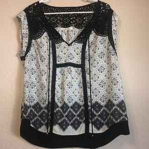 Daniel Rainn tassel detail blouse size L